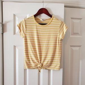 BB Dakota yellow striped top